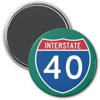 Interstate 40 (I-40) Highway Sign Magnet