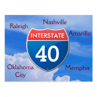 Interstate 40 - postcards