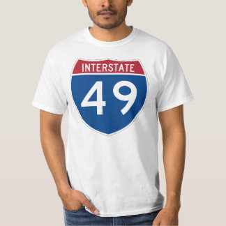 Interstate 49 (I-49) Highway Sign T-shirts