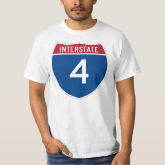 Interstate 4 (I-4) Highway Sign T-shirt
