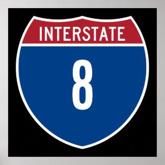 Interstate 8 poster