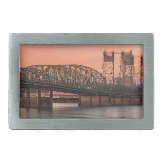 Interstate Bridge Over Columbia River at Sunset Belt Buckle