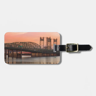 Interstate Bridge Over Columbia River at Sunset Luggage Tag