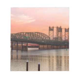 Interstate Bridge Over Columbia River at Sunset Notepad