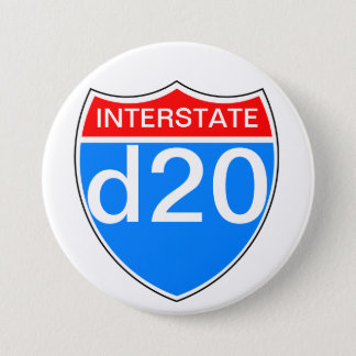 Interstate d20 3 inch round button