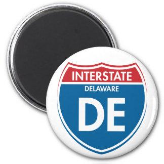 Interstate Delaware DE 2 Inch Round Magnet