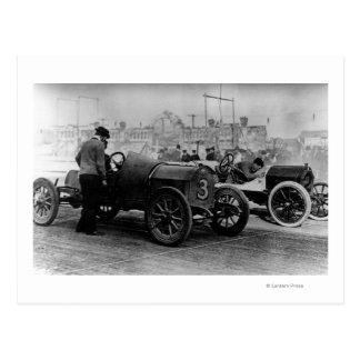 Interstate Fairgrounds Auto Speed Races Postcard
