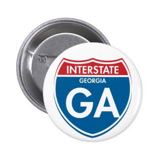 Interstate Georgia GA 2 Inch Round Button