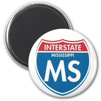 Interstate Mississippi MS Magnet