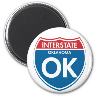 Interstate Oklahoma OK Magnet