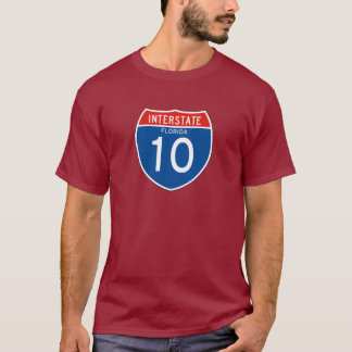 Interstate Sign 10 - Florida T-Shirt