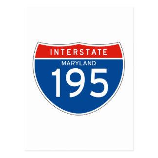 Interstate Sign 195 - Maryland Postcard