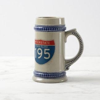 Interstate Sign 195 - Rhode Island Beer Stein