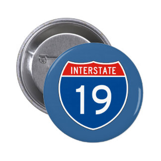 Interstate Sign 19 2 Inch Round Button