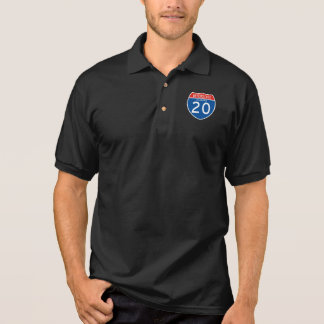 Interstate Sign 20 - Alabama Polo Shirt