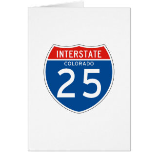 Interstate Sign 25 - Colorado Card