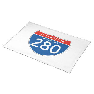Interstate Sign 280 - New Jersey Place Mat