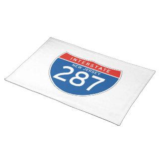 Interstate Sign 287 - New Jersey Place Mat