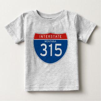 Interstate Sign 315 - Montana Baby T-Shirt