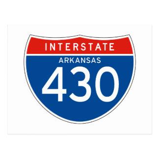 Interstate Sign 430 - Arkansas Postcard