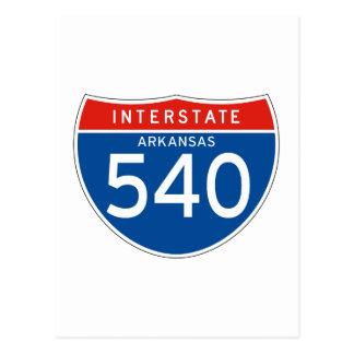 Interstate Sign 540 - Arkansas Postcard