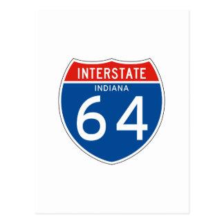 Interstate Sign 64 - Indiana Postcard