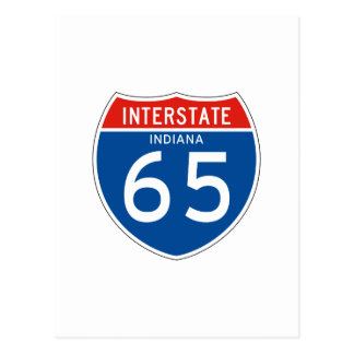 Interstate Sign 65 - Indiana Postcard