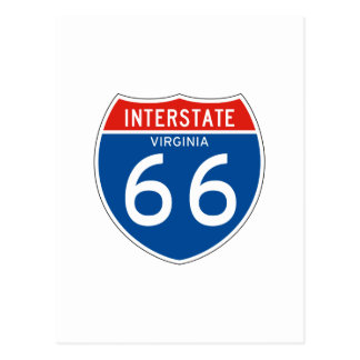 Interstate Sign 66 - Virginia Postcard