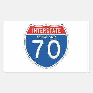 Interstate Sign 70 - Colorado Sticker