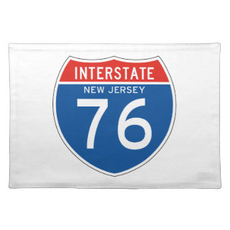 Interstate Sign 76 - New Jersey Placemats