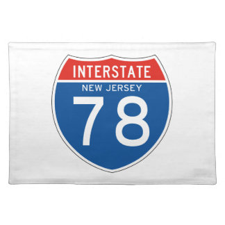 Interstate Sign 78 - New Jersey Placemats