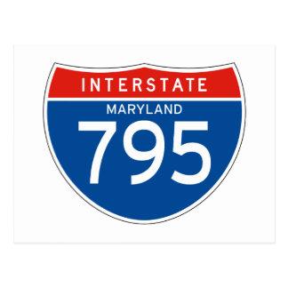 Interstate Sign 795 - Maryland Postcard