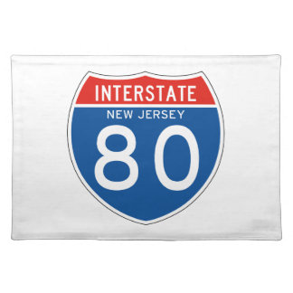 Interstate Sign 80 - New Jersey Placemats