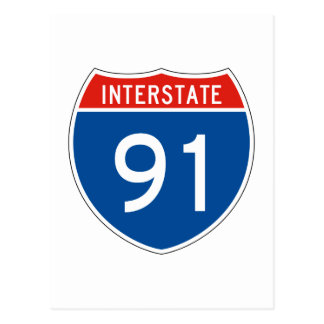 Interstate Sign 91 Postcard