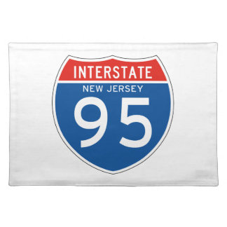 Interstate Sign 95 - New Jersey Place Mats
