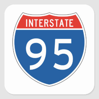 Interstate Sign 95 Square Sticker