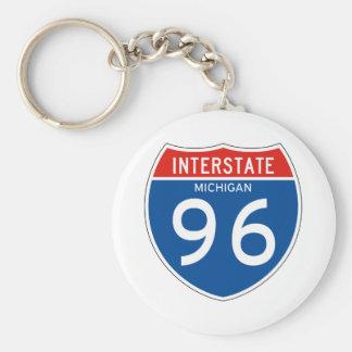 Interstate Sign 96 - Michigan Keychain
