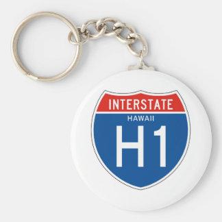 Interstate Sign H1 - Hawaii Keychain