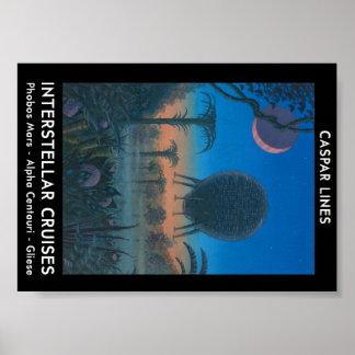 Interstellar Cruises Caspar Lines Poster