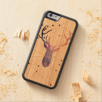 Interstellar deer carved cherry iPhone 6 bumper case