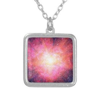 Interstellar Nebula Silver Plated Necklace