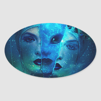 Interstellar Oval Sticker