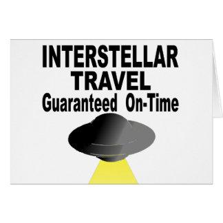 Interstellar Travel Guaranteed On Time Card
