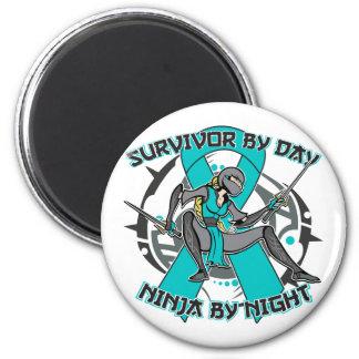 Interstitial Cystitis Survivor By Day Ninja Night Fridge Magnet