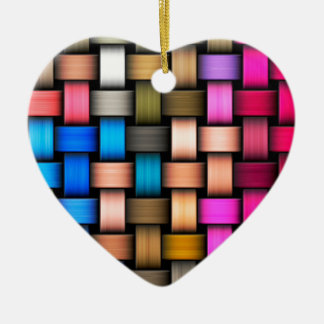 Intertwined abstract background ceramic heart ornament