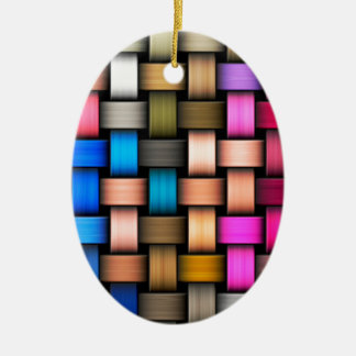 Intertwined abstract background ceramic ornament