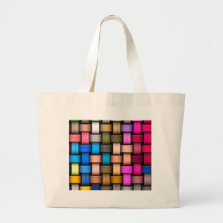 Intertwined abstract background large tote bag