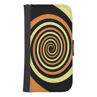 Intertwined Spirals Design Phone Wallet