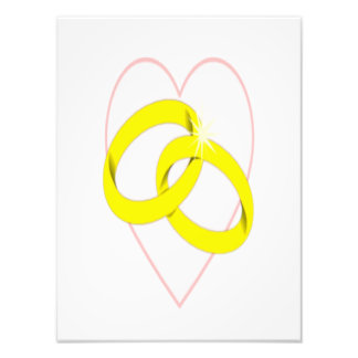 Intertwined Wedding Rings & Heart Photo