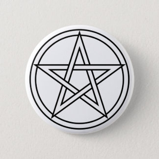 Intertwined White Pentacle 2 Inch Round Button